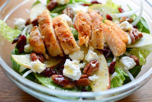 Maple Pecan Cran-Apple Salad with Lemon-Maple Vinaigrette