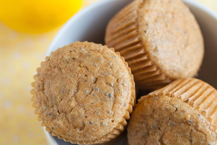 Honey Lemon Chia Seed Muffins