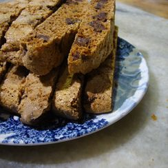 Chocolate Chip Biscotti for Grandpa