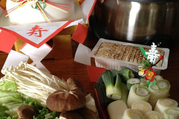 New Year's Sukiyaki, Lots of Leeks!