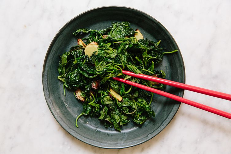 Southeast Asian Amaranth Stir-Fry with Ginger