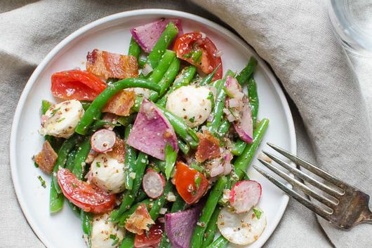 Tangy Green Bean Ciliegine Salad