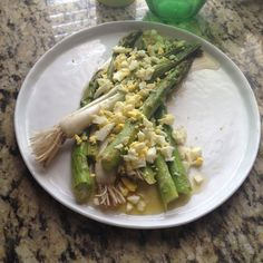 Scallions and Asparagus Vinaigrette
