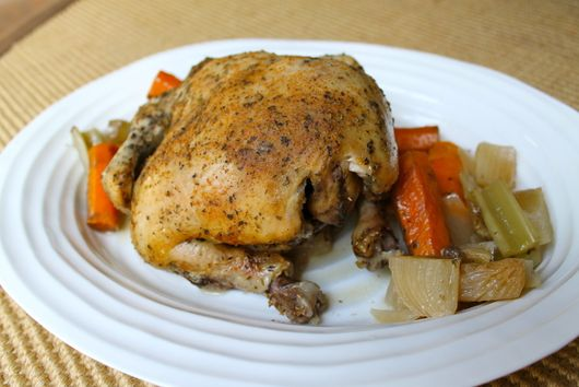 Slow Cooked Spiced Whole Roasted Chicken