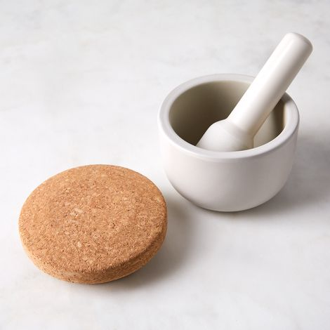 Small Mortar & Pestle Set with Lid