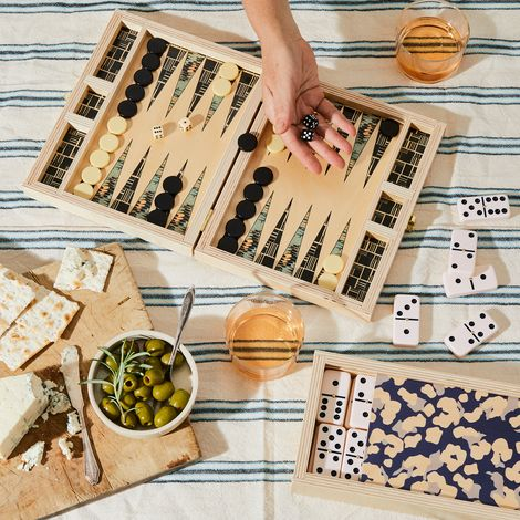 Handcrafted Wooden Backgammon & Domino Games