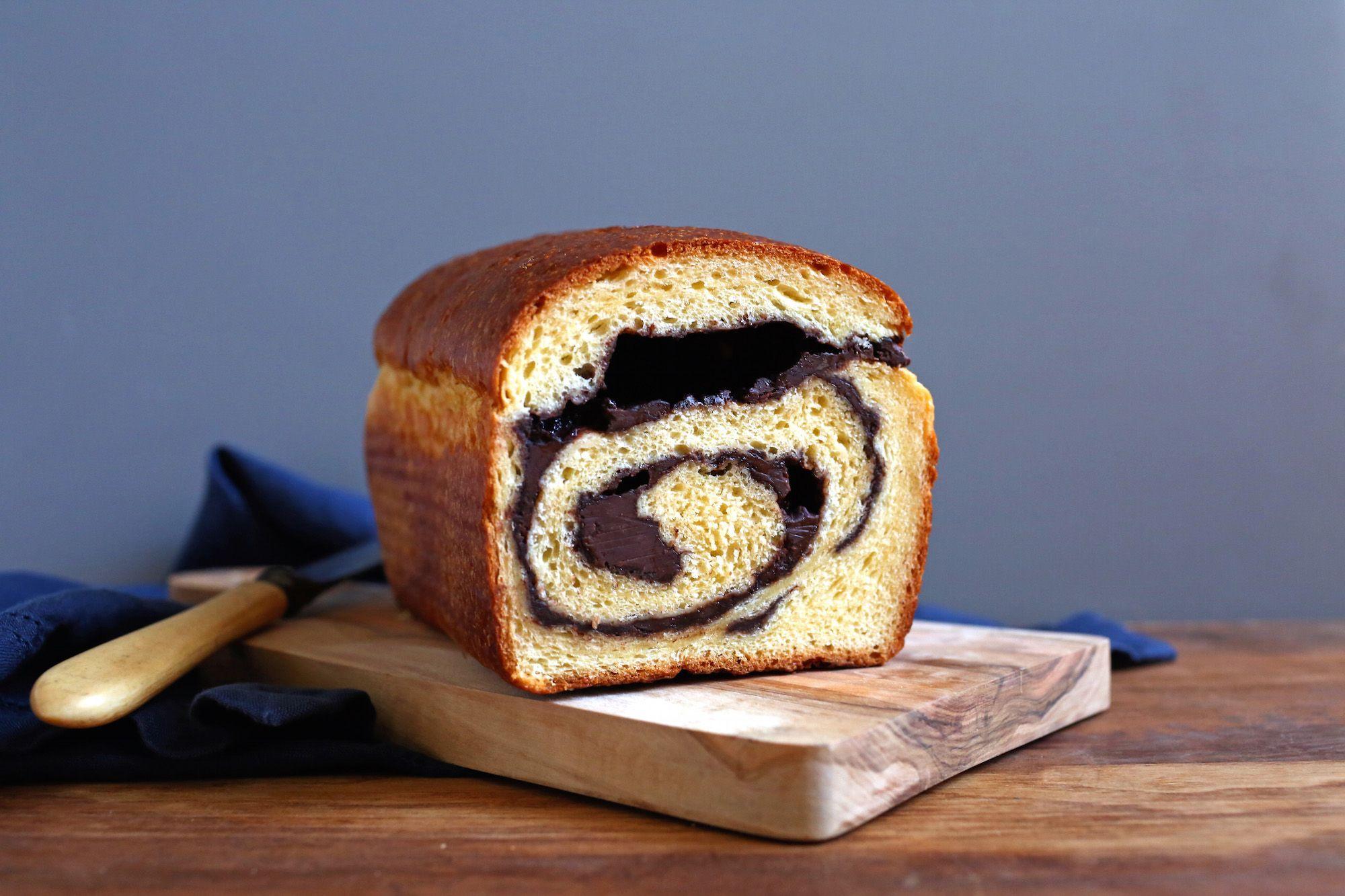 Chocolate Swirl Brioche Bread Recipe