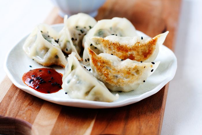 Pork, Kale and Apple Potstickers