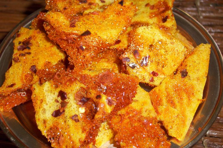 Honeycomb Candy with chili