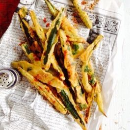 Crispy Okra with Chaat Masala