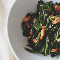 Filipino Style Adobo Collard Greens with Salt Pork