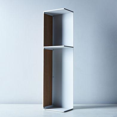 Steel & Wood Bathroom Storage Shelf