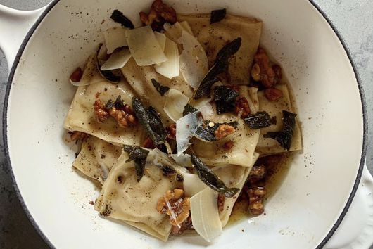 Handmade Butternut Squash Ravioli with Browned Butter, Sage and Walnuts