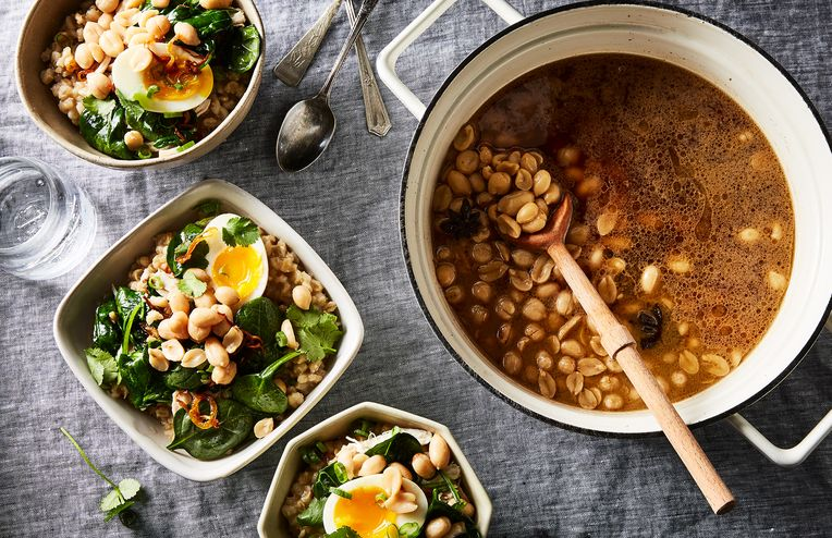 Give Peanuts a Warm, Bacon-y Braise in Soy Sauce