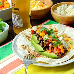 smoky black bean tacos