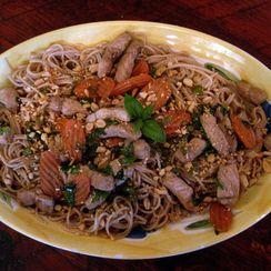 My Thai Peanut Basil Pork & Noodles