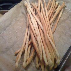 Rosemary Rye Grissini (Breadsticks)