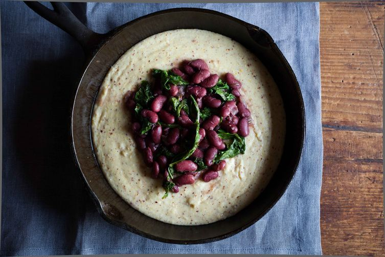 Cranberry Beans with Kale on Food52