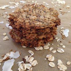 Vegan Oats & Flax Crisps with Coconut