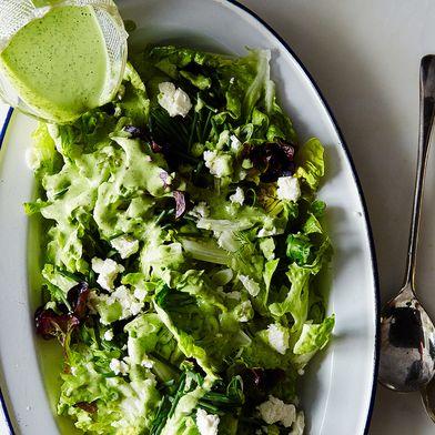 Eric Korsh's Farm Lettuces Salad with Dill Vinaigrette