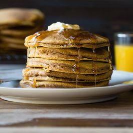 Pumpkin Whole Wheat Pancakes