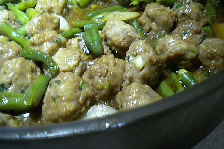 Asian Beans and Pork -The Meatball Version