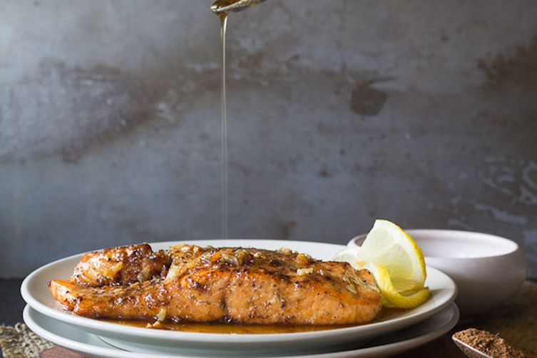 Maple Glazed Salmon with Chinese Five Spice