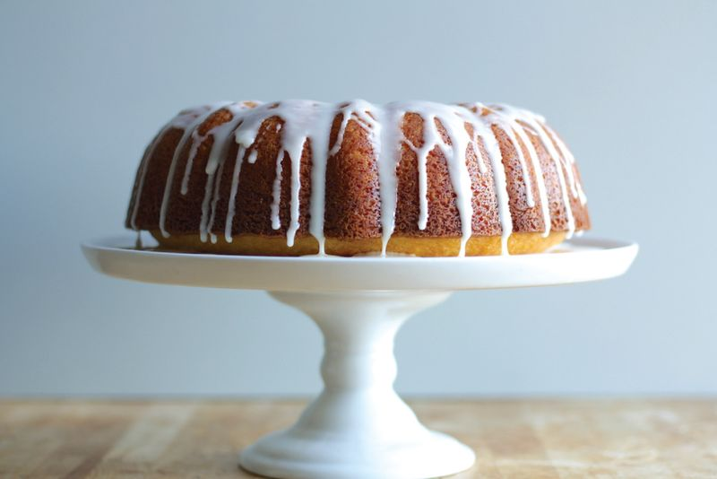 Orange Bundt Cake with Vanilla Glaze