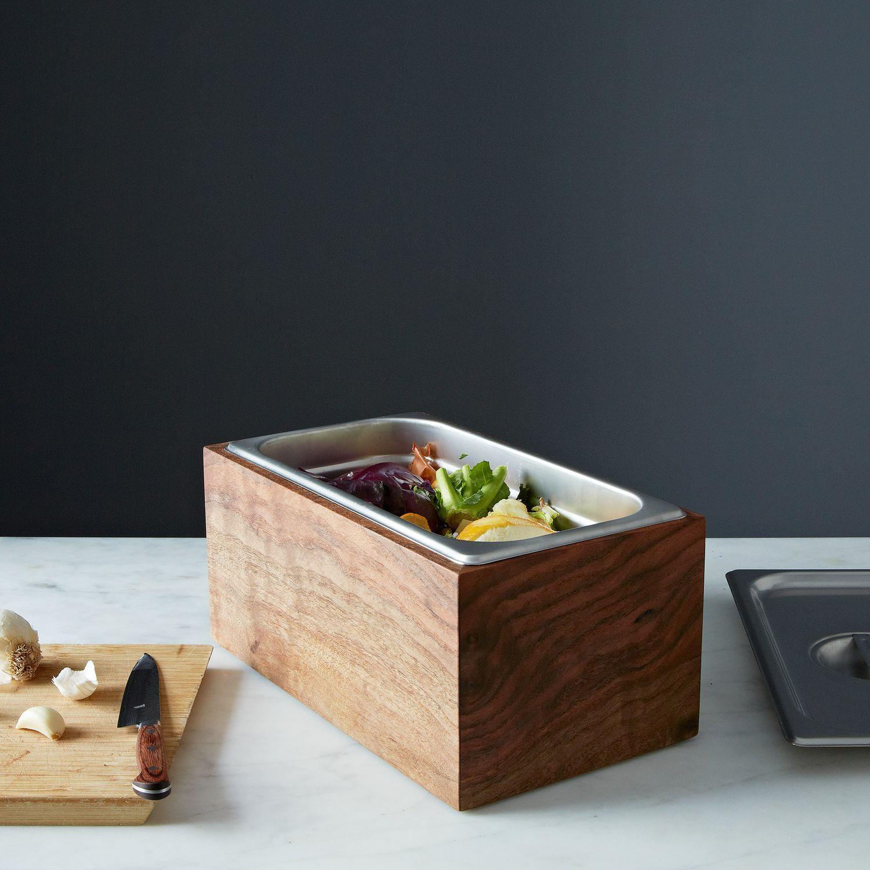 Countertop Compost Bin : Noaway Countertop Walnut Compost Bin on Food52