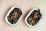Rainbow Chard and Wild Rice Salad with Blood Orange Vinaigrette