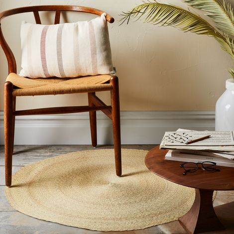 Round Natural Palm Rug