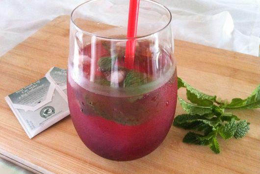 Blackberry Mint Iced Tea Lemonade