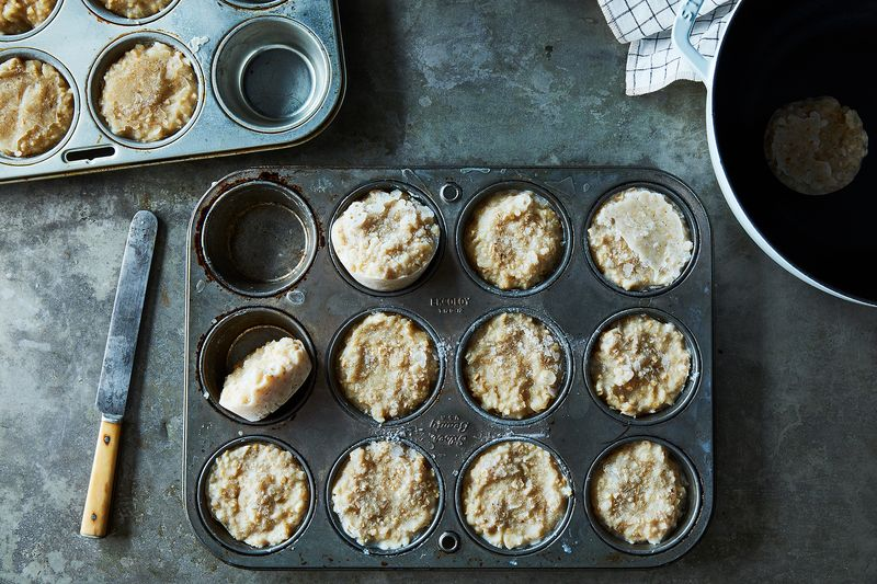 This is not a weird-ass muffin: It's a frozen puck of oatmeal, ready to be your breakfast.
