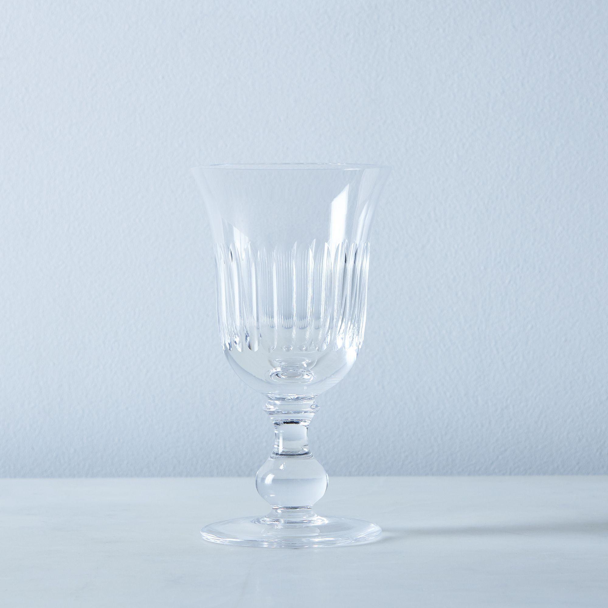 Close Ribs Vintage Italian Crystal Glassware - Marcella, White Wine