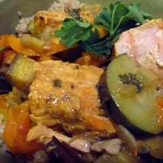 Orange, Olive and Salmon Tagine