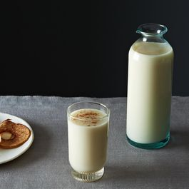 Moroccan-Style Almond Milk with Orange Blossom Water & Cinnamon