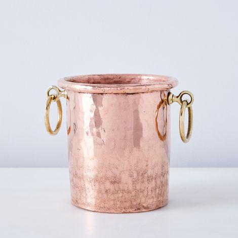 Vintage Copper Utensil Holder, Late 19th Century