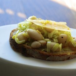 White Beans and Leeks on Toast