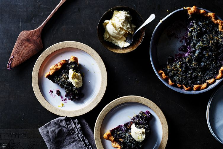 Blueberry Lemon Poppy Seed Pie