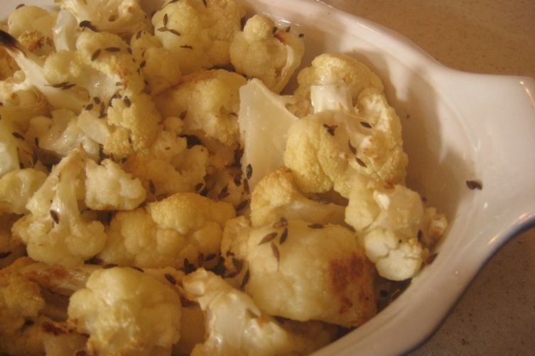 Roasted Cauliflower with Walnut Oil and Toasted Cumin