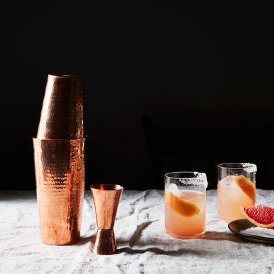 Hammered Copper Boston Shaker