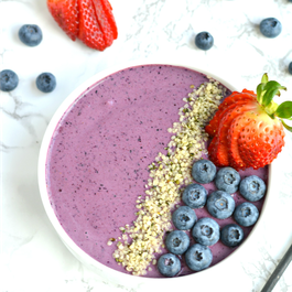 Berry Hemp Protein Smoothie Bowl