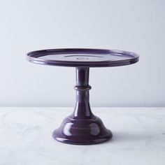 Purple Glass Cake Stand