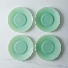Jadeite Glass Plates (Set of 4)