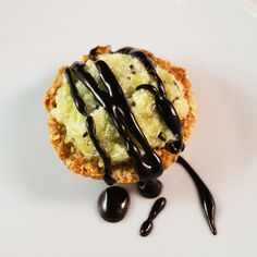 No Bake Kiwi & Coconut Tart with Dark Chocolate Almond Drizzle