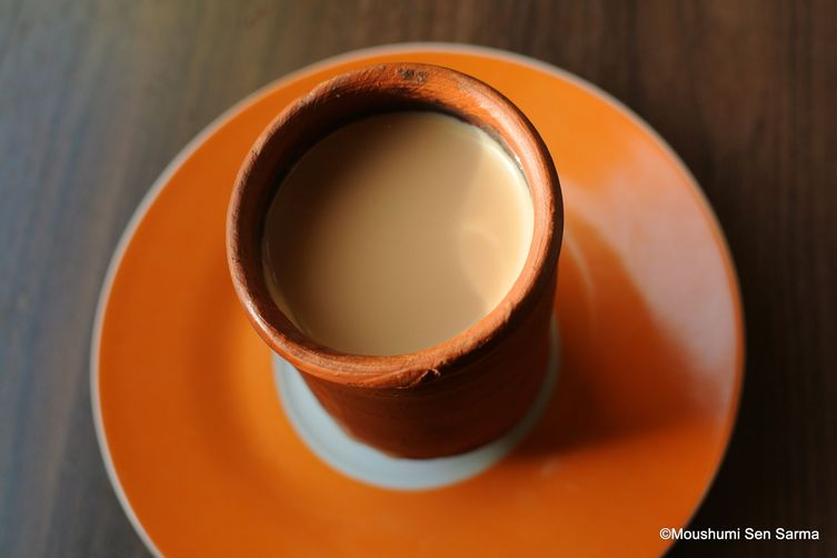 Masala chai or spiced Indian tea