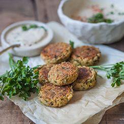 Healthier Pan Fried Falafel