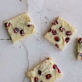 Pomegranate, Toasted Quinoa, and White Chocolate Bark