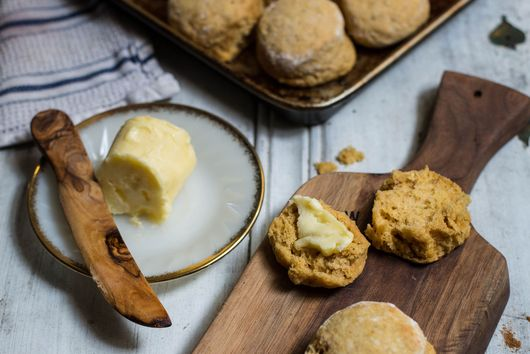 Honey Pumpkin Biscuits