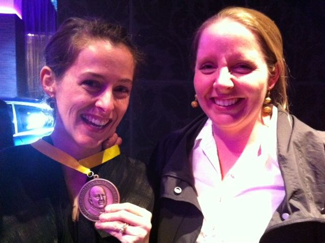 Amanda Hesser and Merrill Stubbs Dorman at the James Beard Awards